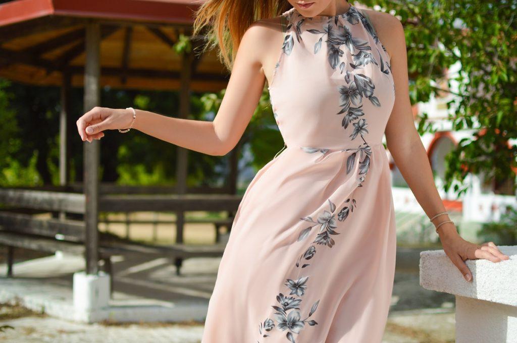 Woman wearing a dress