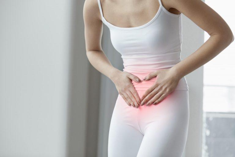 woman experiencing menstrual pain