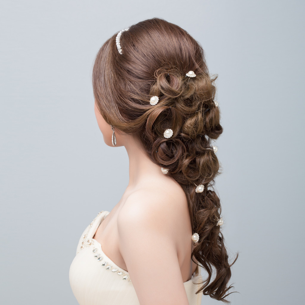 woman with beautiful braided hair